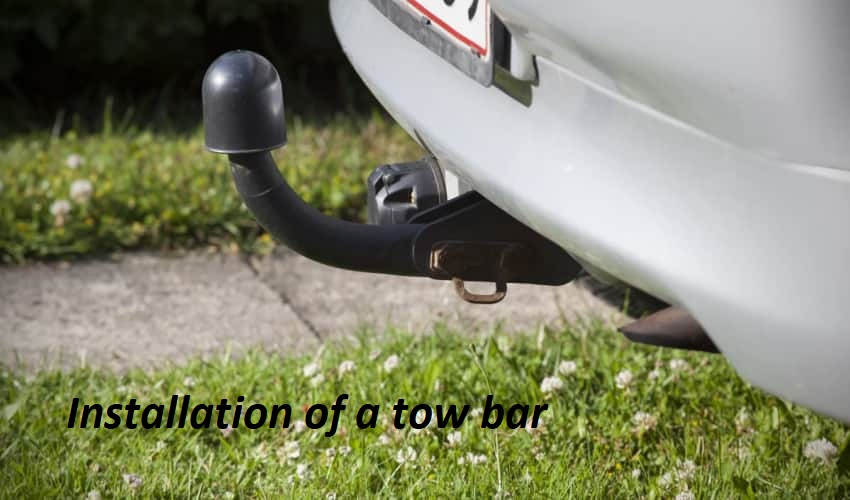 Installation of a tow bar