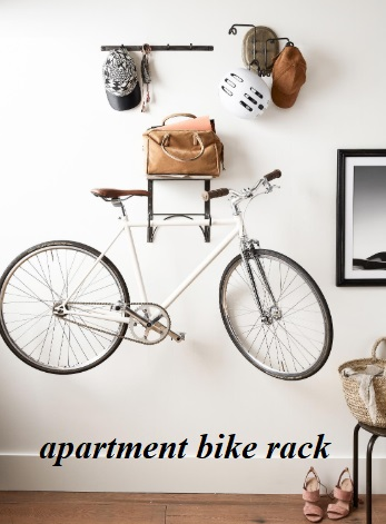 The apartment bike rack