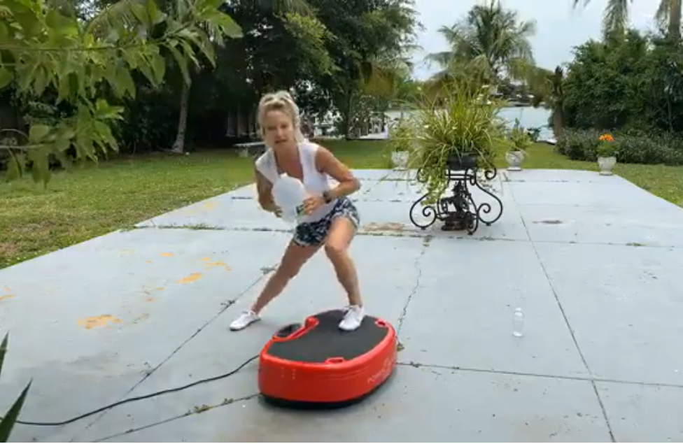 The Slim Full Body Vibration Platform Fitness Machine Is Great For Those That Want To Workout At Home
